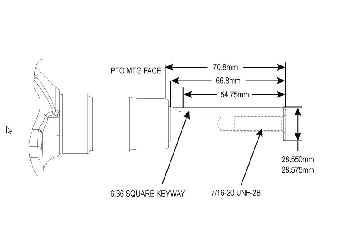 Kohler Crankshaft - Part No. 24 014 206-S