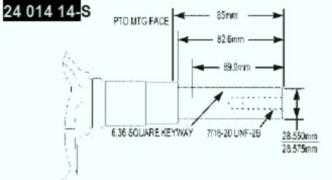 Kohler Crankshaft - Part No. 24 014 351-S