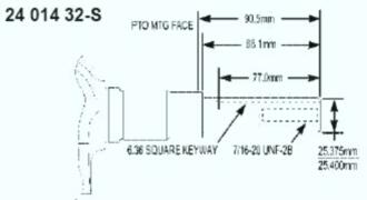 Kohler Crankshaft - Part No. 24 014 360-S