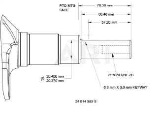Kohler Crankshaft - Part No. 24 014 383-S