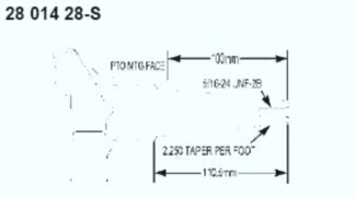 Kohler Crankshaft - Part No. 28 014 28-S
