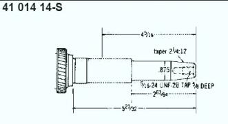 Kohler Crankshaft - Part No. 41 014 14-S