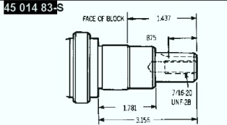 Kohler Crankshaft - Part No. 45 014 83-S