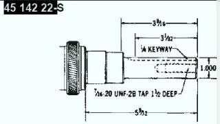Kohler Crankshaft - Part No. 45 142 22-S