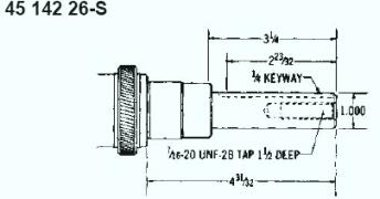 Kohler Crankshaft - Part No. 45 142 26-S