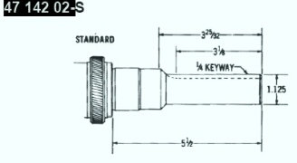 Kohler Crankshaft - Part No. 47 142 02-S