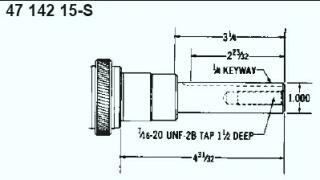 Kohler Crankshaft - Part No. 47 142 15-S