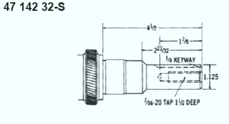 Kohler Crankshaft - Part No. 47 142 32-S