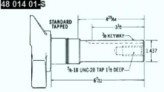 Kohler Crankshaft - Part No. 48 014 01-S