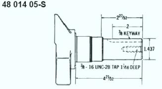 Kohler Crankshaft - Part No. 48 014 05-S
