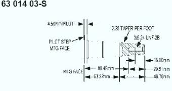Kohler Crankshaft - Part No. 63 014 17-S