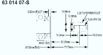 Kohler Crankshaft - Part No. 63 014 07-S