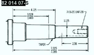 Kohler Crankshaft - Part No. 82 014 07-S