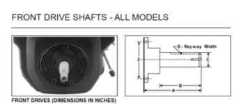 Kohler Stub Shaft - Part No. 235954-S
