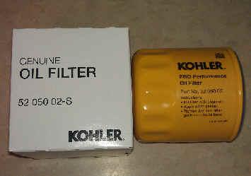Kohler Oil Filter Part No 52 050 02-S