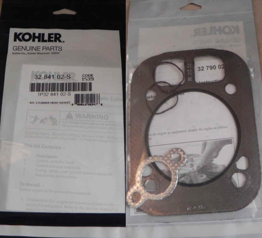 Kohler Head Gasket Part No 32 841 02-S