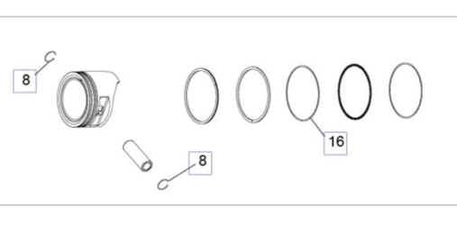 Kohler Piston Assembly - Part No. 17 874 11-S