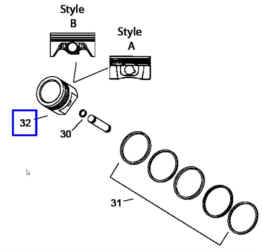 Kohler Piston Assembly - Part No. 24 874 56-S