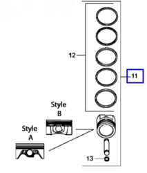 Kohler Piston Assembly - Part No. 25 874 14-S