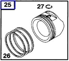 Tecumseh Piston Assembly - Part No. 35776B