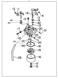 Robin Carburetor Part No. 226-62451-10