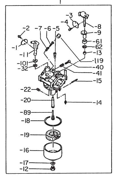 Robin Carburetor Part No. 252-62454-30