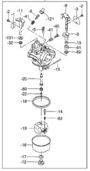 Robin Carburetor Part No. 253-62450-20