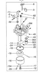 Robin Carburetor Part No. 278-62304-40