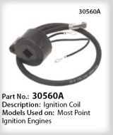 Tecumseh Ignition Coil Part No. 30560A NKA 33-363