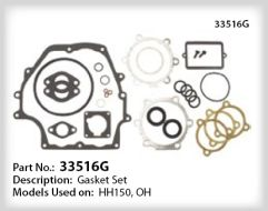 Tecumseh Gasket Set - Part No. 33516G