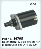 Tecumseh Electric Starter Part No. 36795