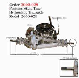Peerless Silent Trac Hydrostatic Transaxle 2000-029