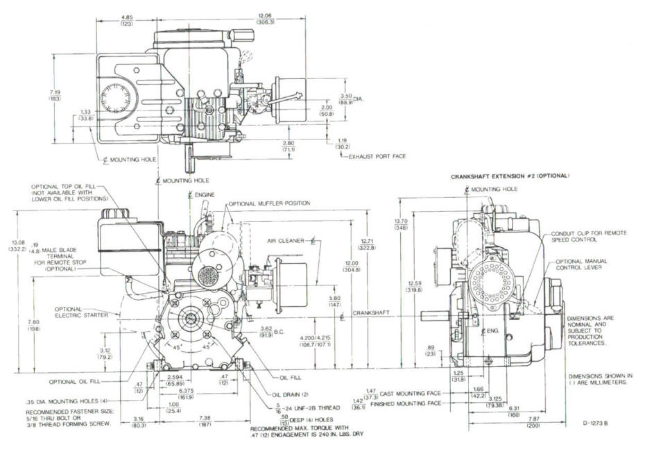 Line drawing for Tecumseh H30 H35