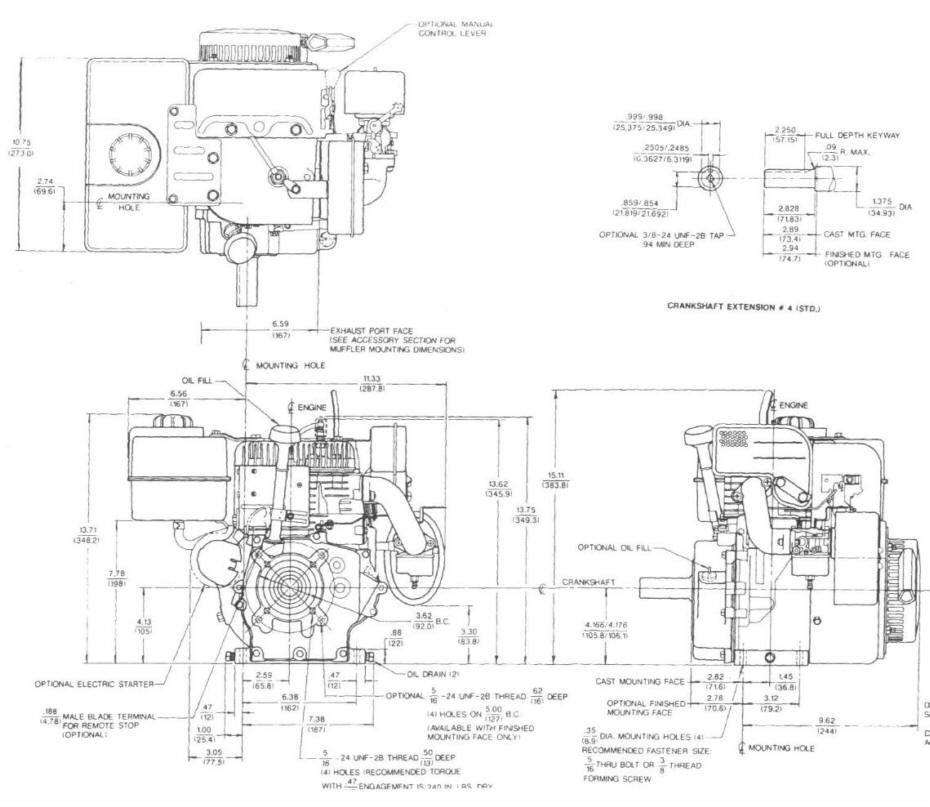 Line drawing for Tecumseh HM80 HM100