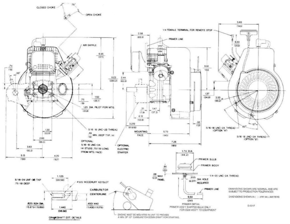 Line drawing for Tecumseh HSK600