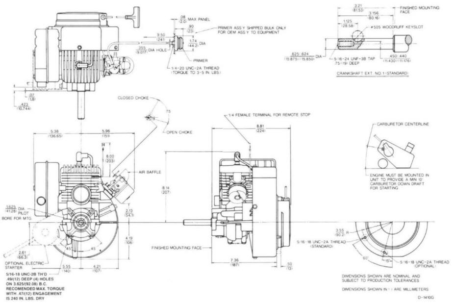 Line drawing for Tecumseh HSK845