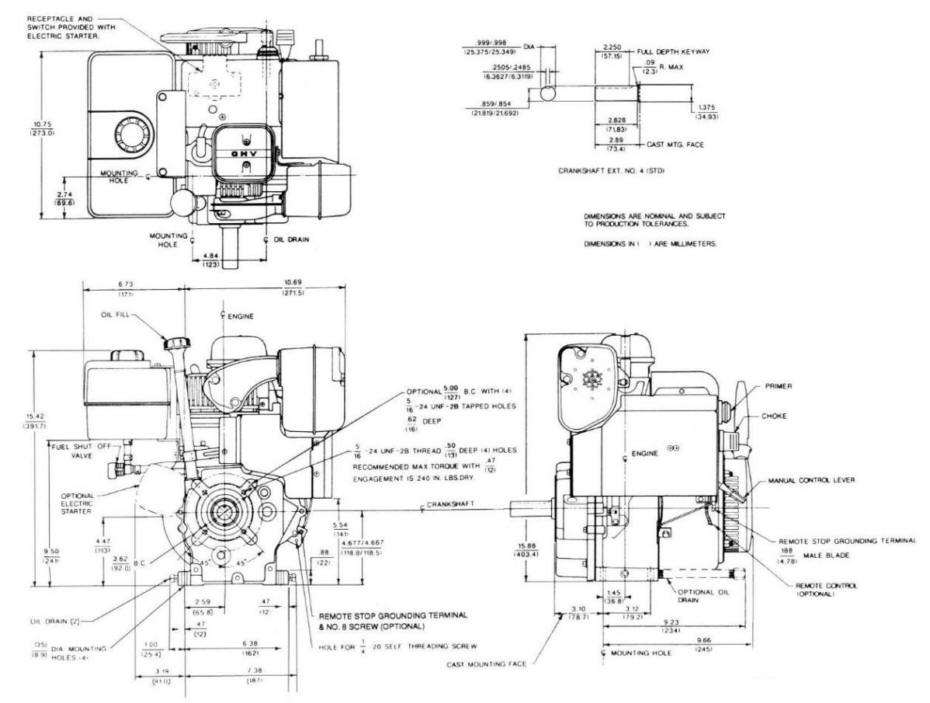Line drawing for Tecumseh OHSK120