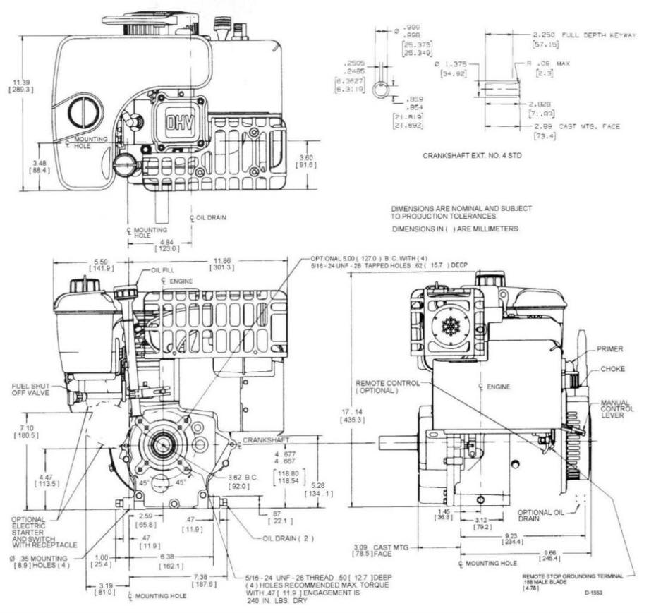 Line drawing for Tecumseh OHSK130