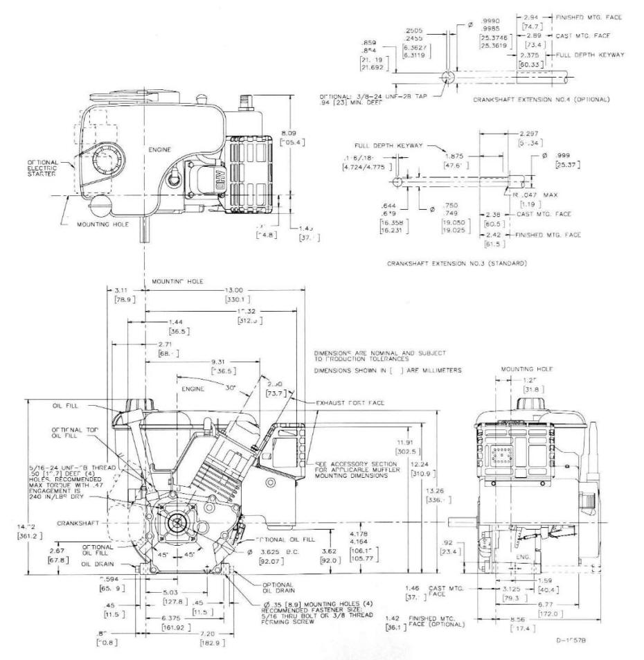 Line drawing for Tecumseh OHSK55 OHSK70