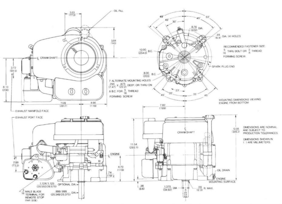 Line drawing for Tecumseh OHV13
