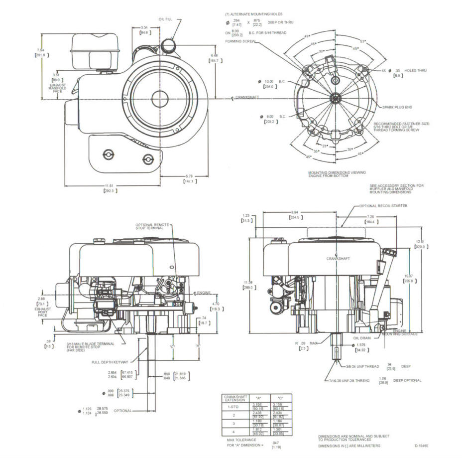 Line drawing for Tecumseh OHV130