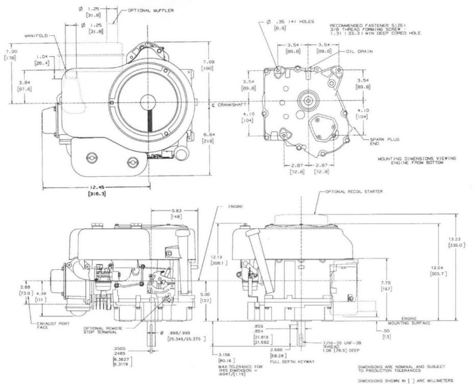 Line drawing for Tecumseh OHV17