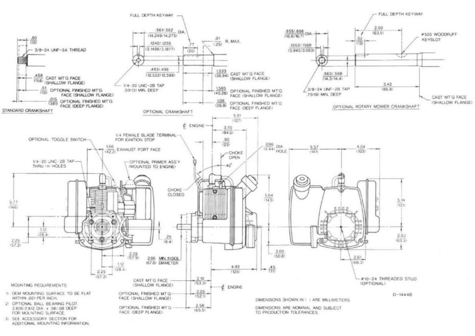 Line drawing for Tecumseh TC300