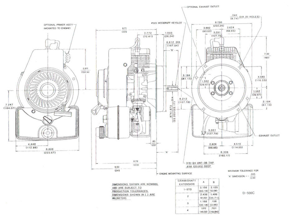 Line drawing for Tecumseh TVS600