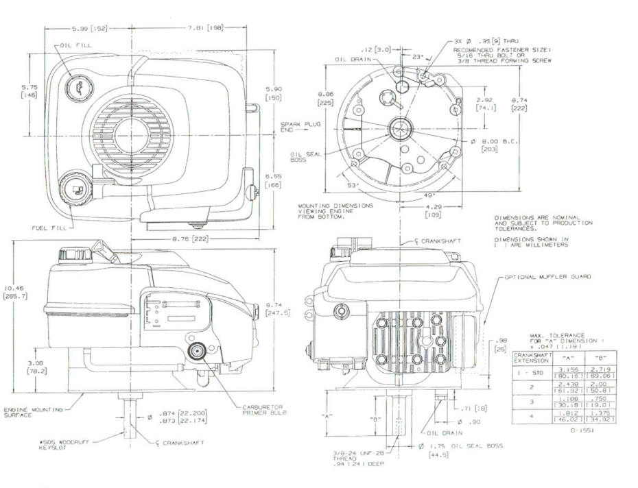 Line drawing for Tecumseh VLV126