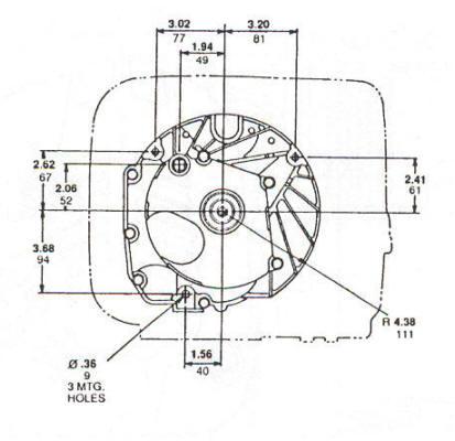 123K00 Series Line Drawing mounting