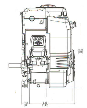 12D400 Series Line Drawing mounting