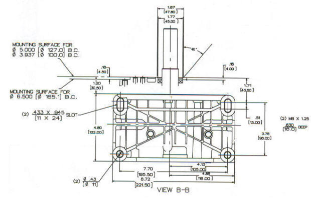 138400 Series Line Drawing mounting