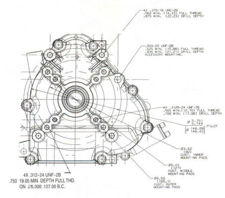 202400 Series Line Drawing mounting