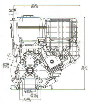 205400 Series Line Drawing mounting
